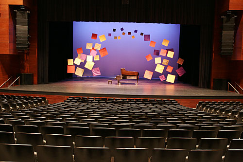Image of stage from back row main floor centre
