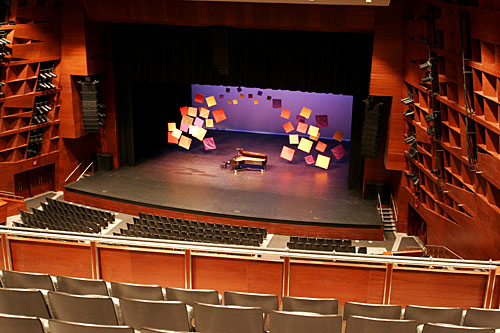 Image of stage from second balcony right centre